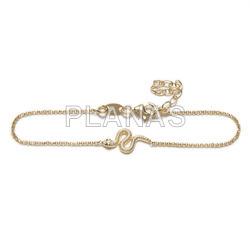 Bracelet in sterling silver. snake.