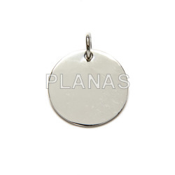 Round sterling silver plate 16mm.