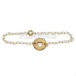 Sterling silver bracelet heart.
