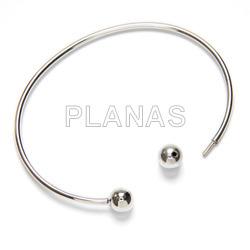 Rigid bracelet in sterling silver