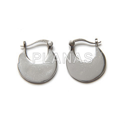 Rhodium-plated sterling silver hoops.