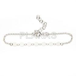 Sterling silver bracelet circles.