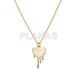 Sterling silver necklace. heart.