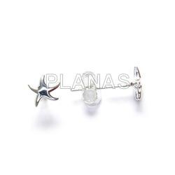 Sterling silver earrings sea star.