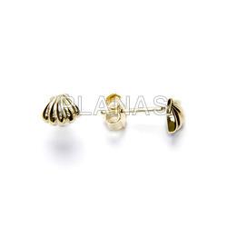 Earrings in sterling silver. shell.