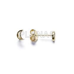 Sterling silver earrings luna.