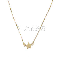 Necklace in sterling silver star.