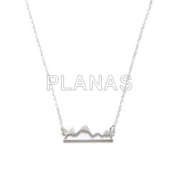 Necklace in sterling silver.montaÑa.