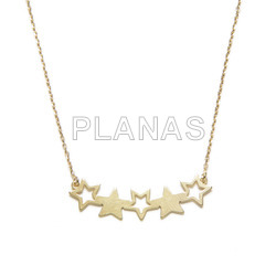 Necklace in sterling silver stars.