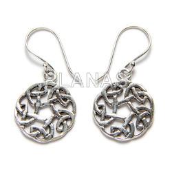 Set silver earrings and pendant
