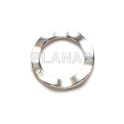 Silver interpiece 10x10x0,4mm.